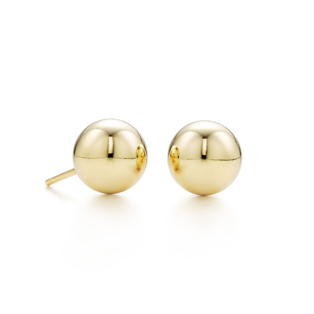 Tiffany HardWear ball earrings in 18k gold. | Tiffany & Co.