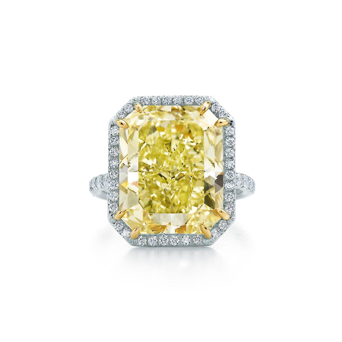 Fancy intense yellow diamond ring tiffany yellow diamonds unleash a