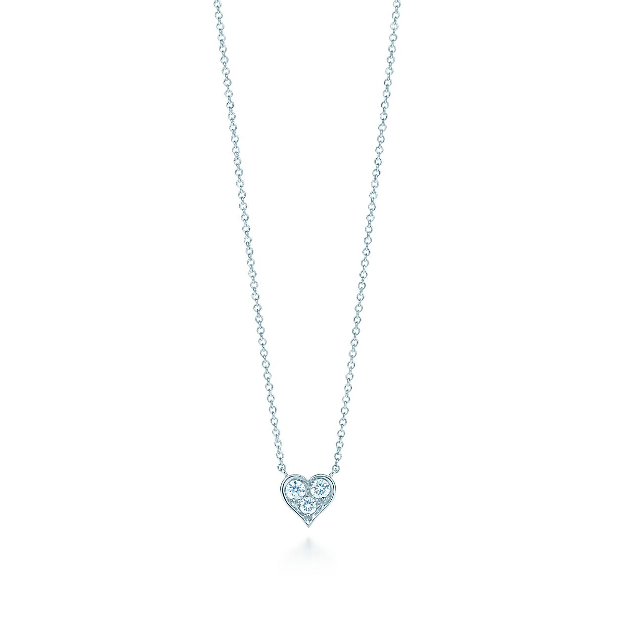 Pendant in platinum with diamonds tiffany co diamond heart pendant diamond heart pendant mozeypictures Images
