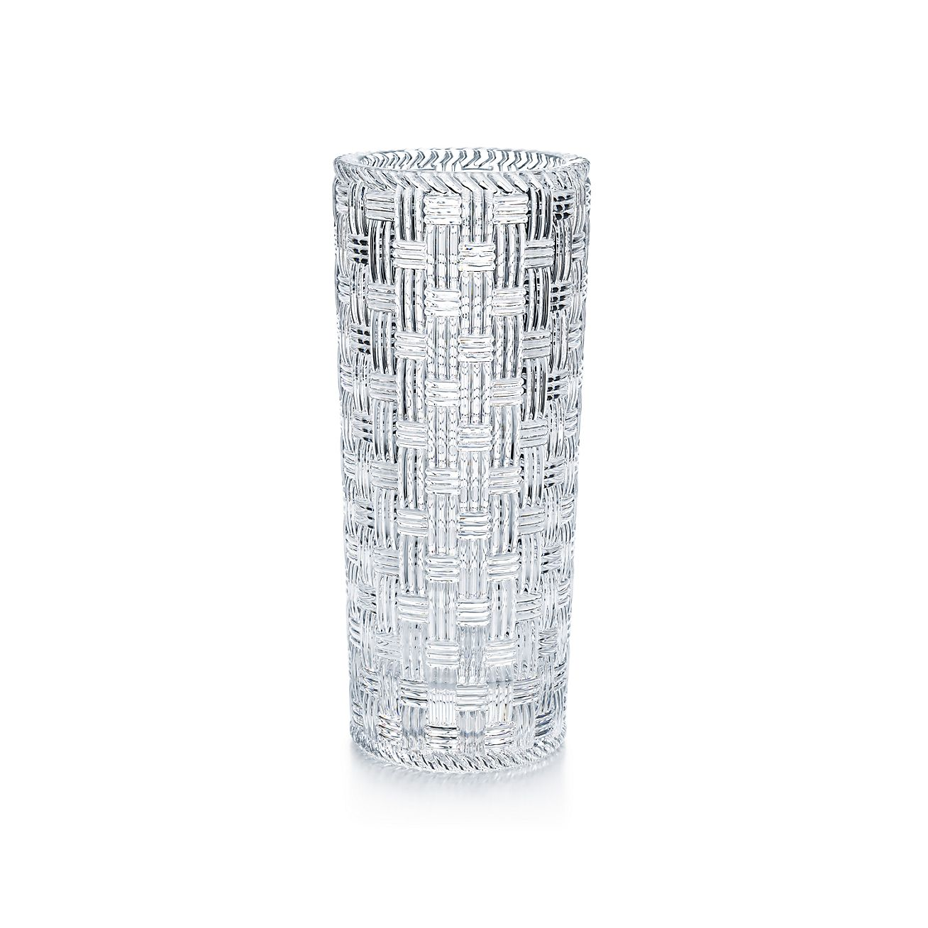 Woven cylinder vase in crystal tiffany co wovencylinder vase reviewsmspy
