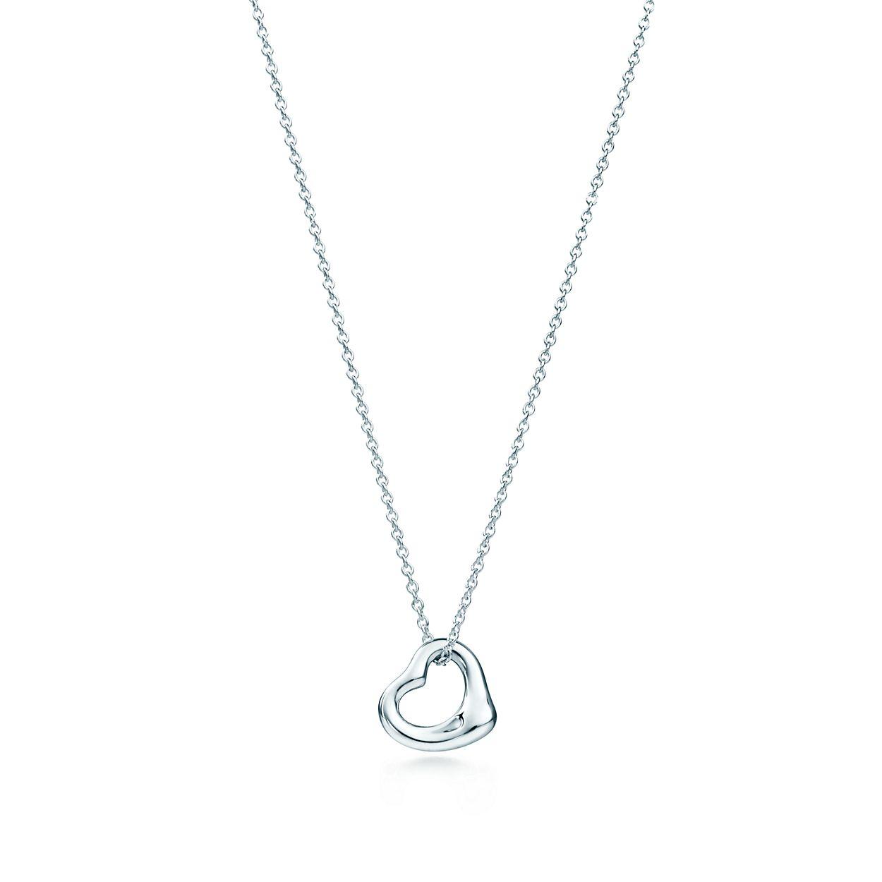 Elsa peretti sterling silver open heart pendant tiffany co elsa perettiopen heart pendant aloadofball Gallery