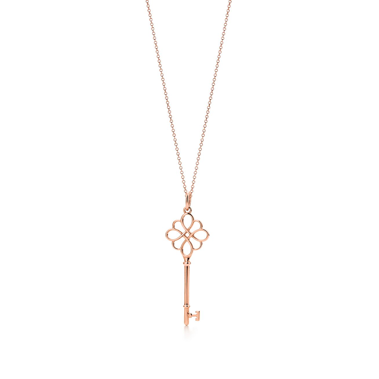 Tiffany keys knot key pendant in 18k rose gold on a chain tiffany keysknot key pendant aloadofball Gallery
