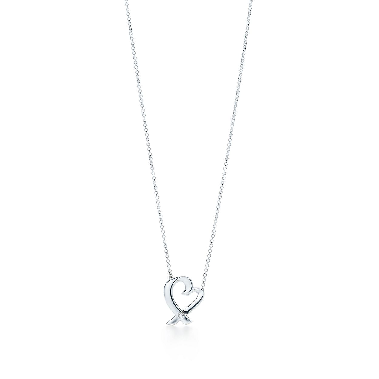Paloma picasso loving heart pendant in sterling silver with a paloma picassoloving heart pendant aloadofball Image collections