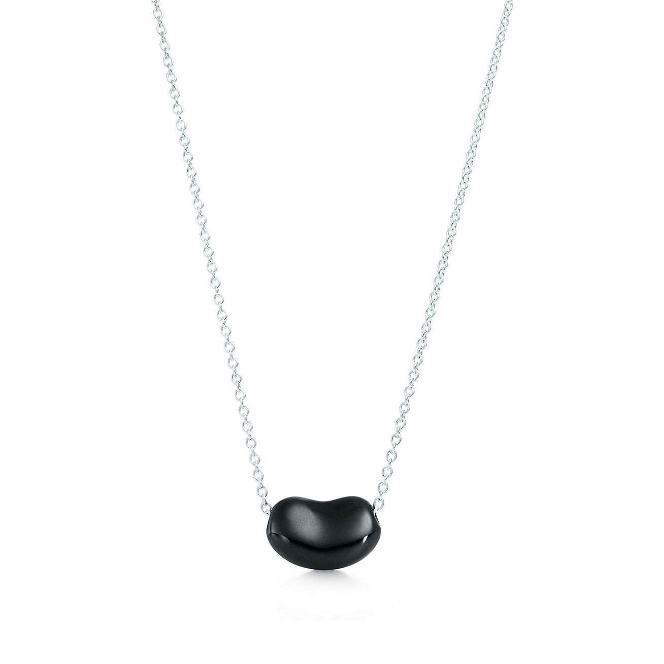 Elsa peretti bean pendant in sterling silver with black jade elsa perettibean pendant audiocablefo light Images