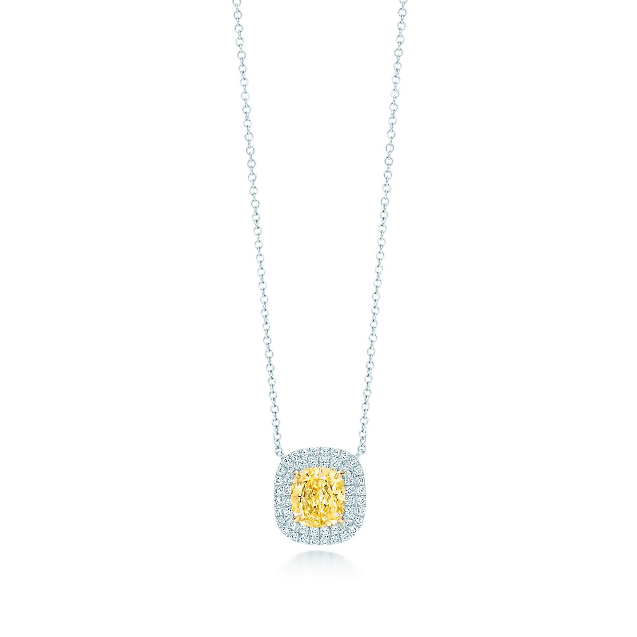 Tiffany soleste yellow and white diamond pendant in platinum and tiffany solesteyellow diamond pendant mozeypictures Image collections
