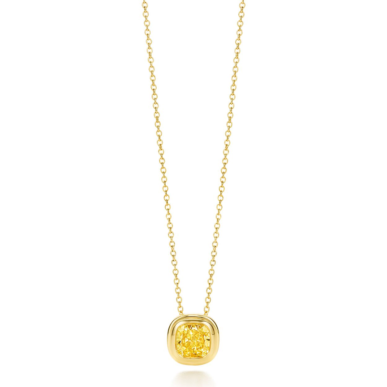 Tiffany bezet yellow diamond pendant in 18k gold tiffany co tiffany bezetyellow diamond pendant mozeypictures Image collections