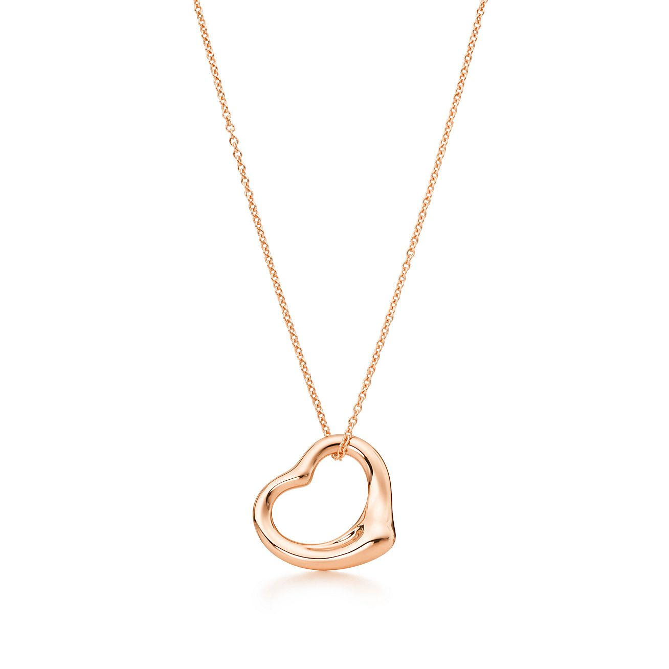 Elsa peretti open heart pendant in 18k rose gold tiffany co elsa perettiopen heart pendant aloadofball Images