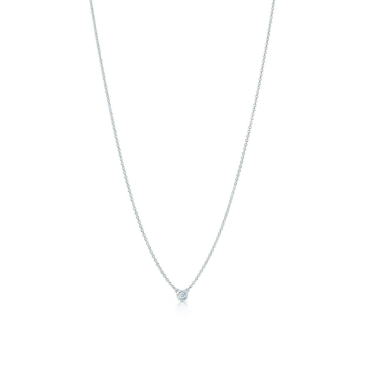 Diamond pendant necklace in sterling silver elsa peretti elsa perettidiamonds by the yard pendant mozeypictures Gallery