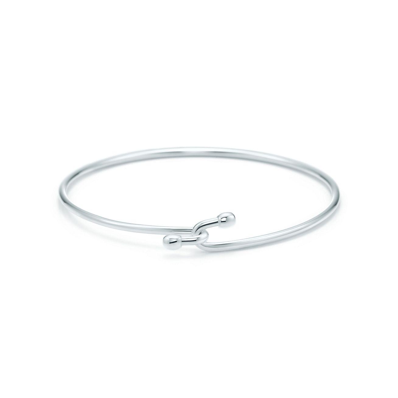 Wire Bracelet In Sterling Silver Medium