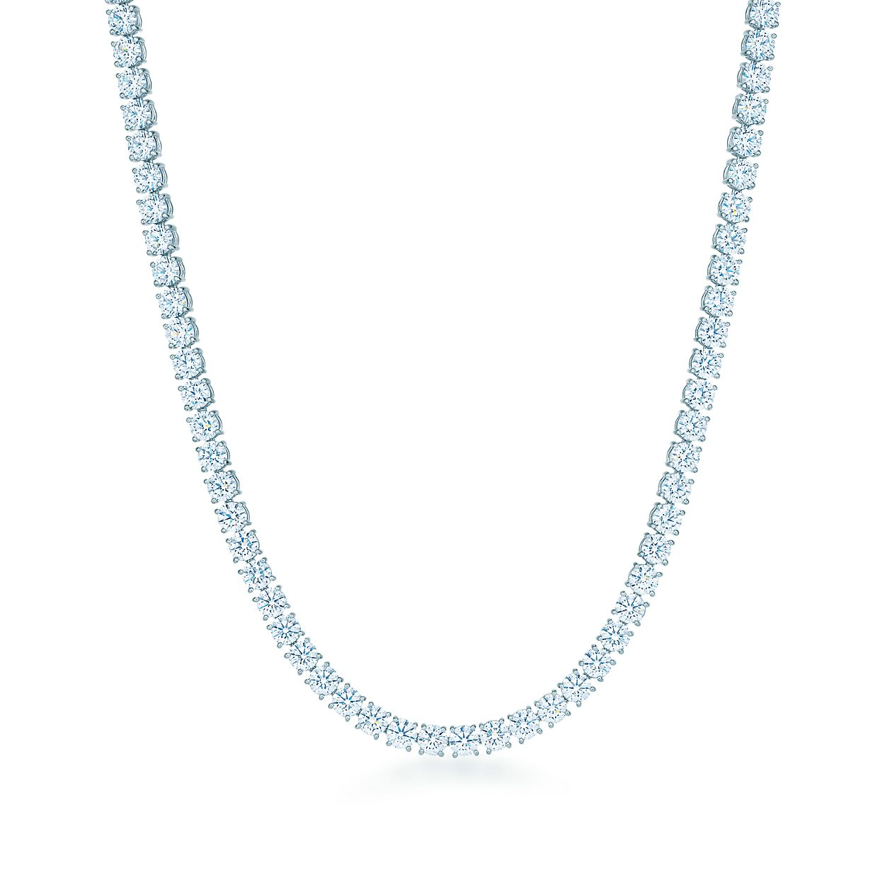 Diamond line necklace in platinum with round brilliant diamonds diamond line necklace diamond line necklace mozeypictures Choice Image