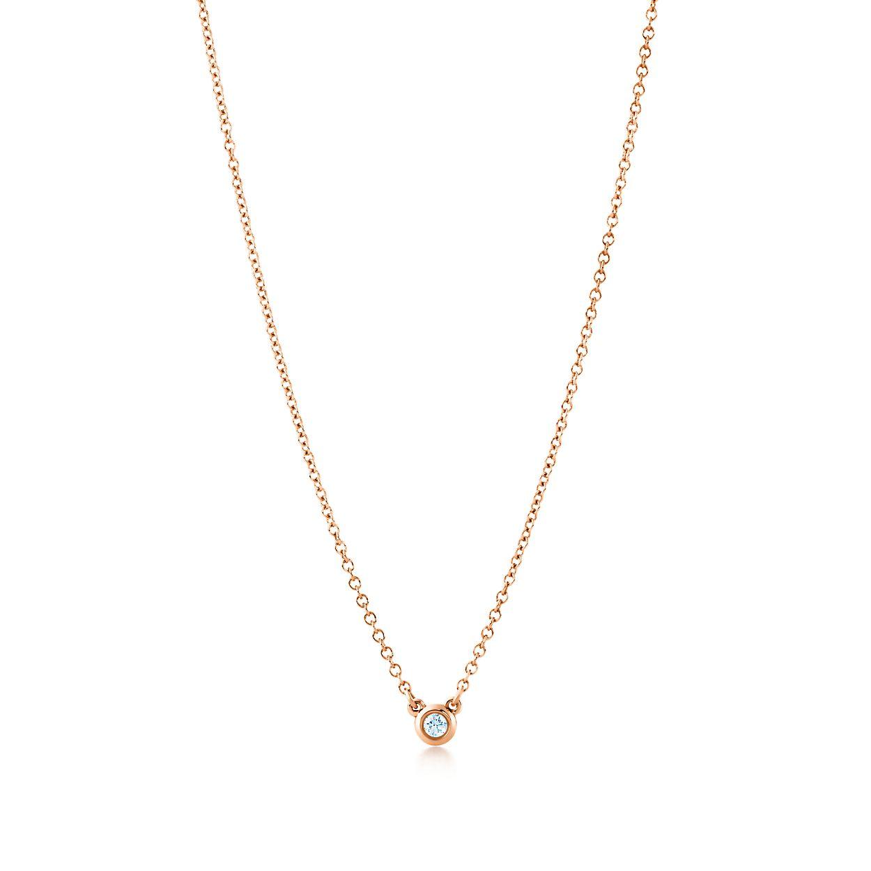 Elsa peretti diamonds by the yard pendant in 18k rose gold with elsa perettidiamonds by the yard pendant aloadofball Images