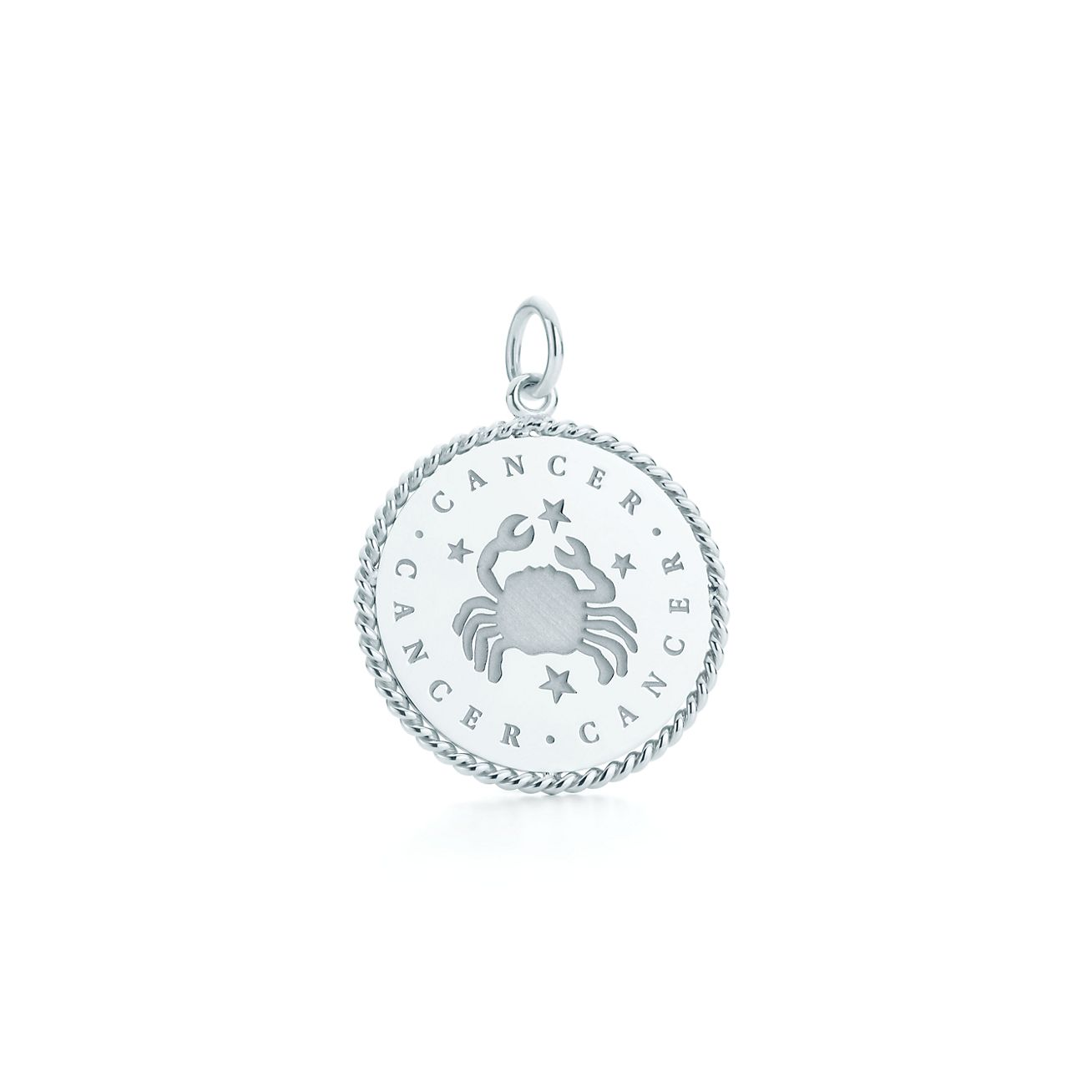 Cancer zodiac charm in sterling silver tiffany co cancer zodiac charm aloadofball Image collections