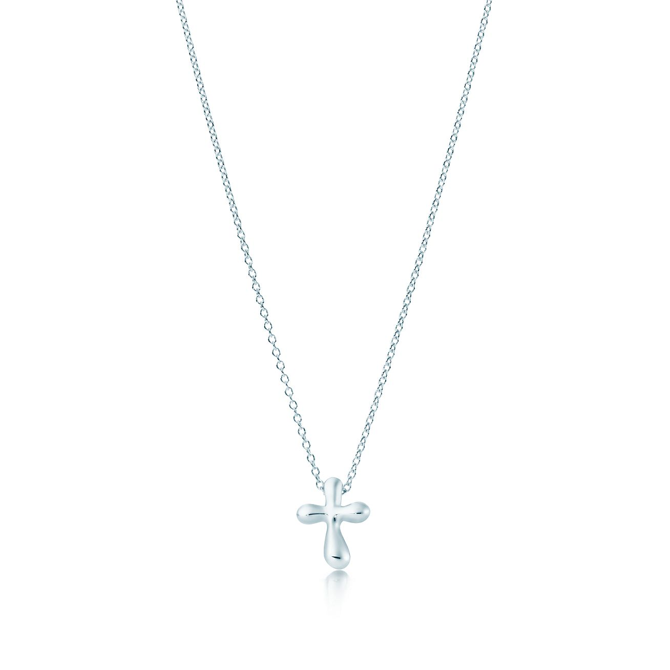 Elsa peretti cross pendant in sterling silver 12 mm long elsa peretticross pendant mozeypictures Images