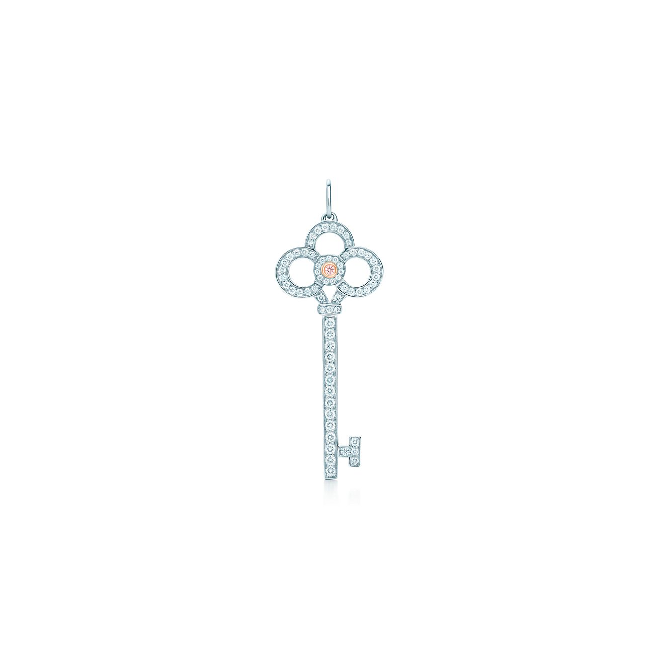 Tiffany keys crown key pendant in platinum and 18k rose gold with tiffany keyscrown key pendant aloadofball Gallery