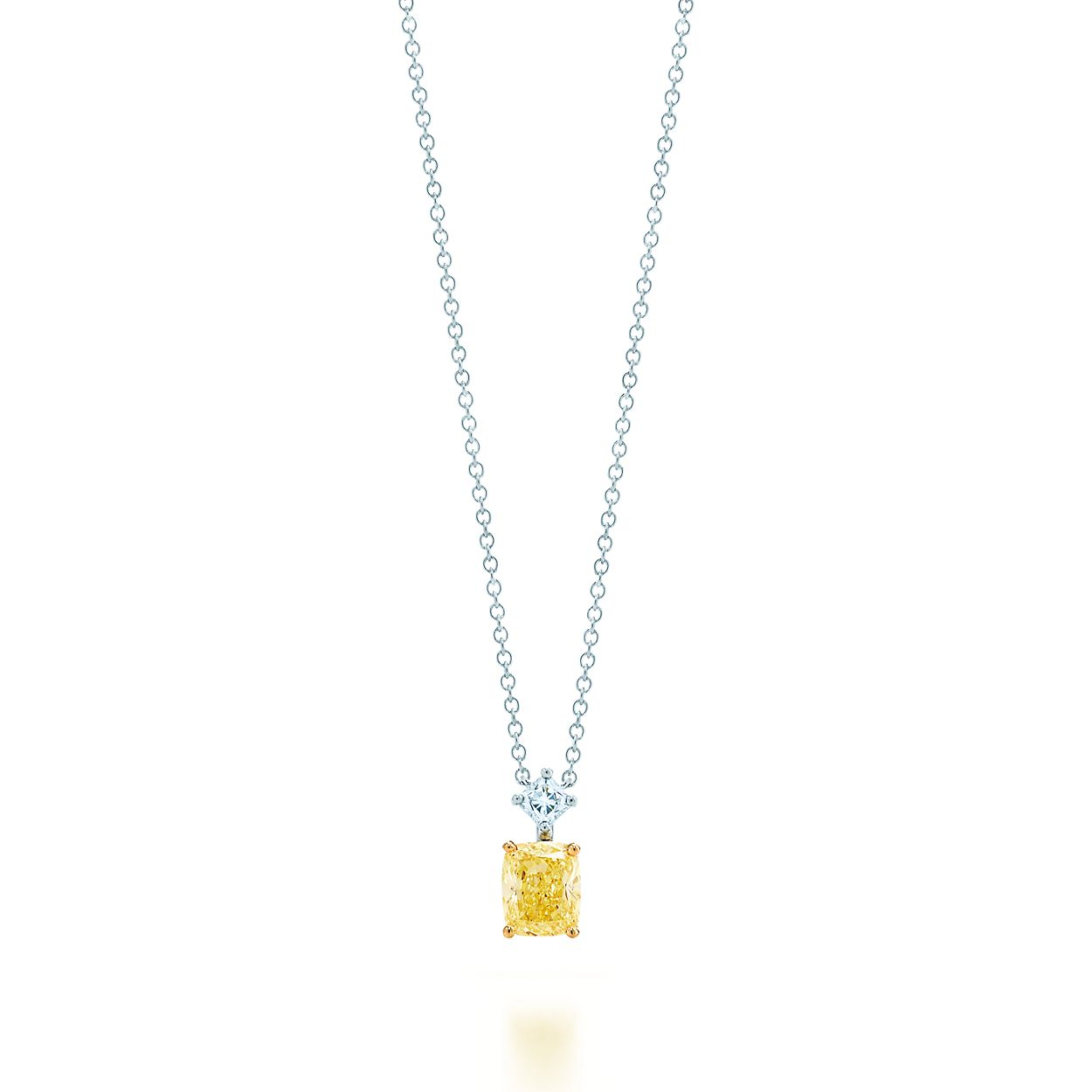Lucida pendant in platinum and 18k gold with a tiffany yellow lucidapendant lucidapendant mozeypictures Image collections