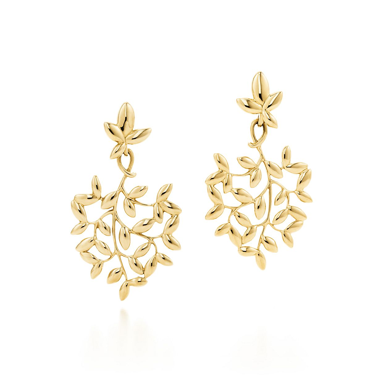 Paloma Picasso® Olive Leaf drop earrings in 18k gold, small ...