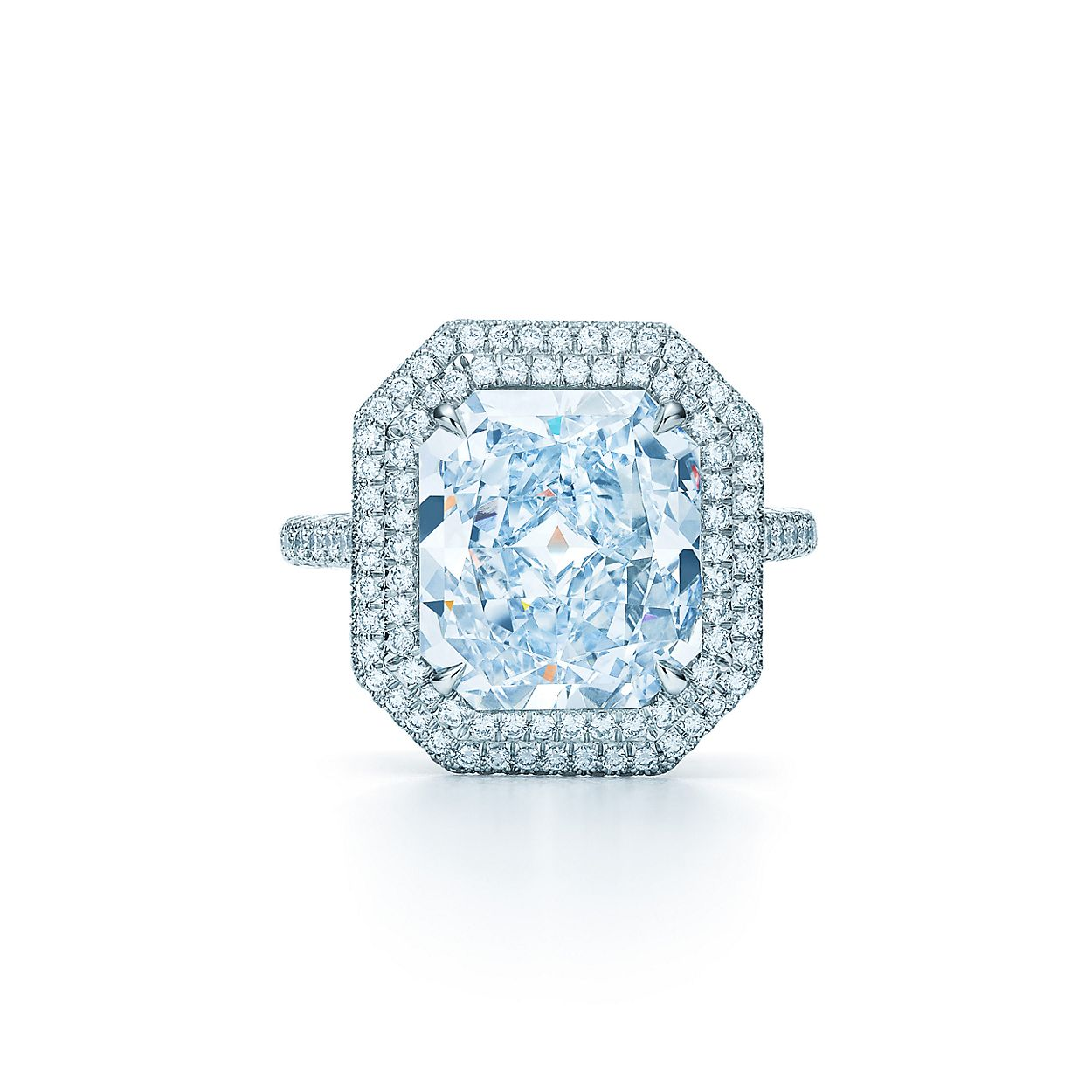 Tiffany Soleste® ring with an internally flawless, 5.02-carat ...