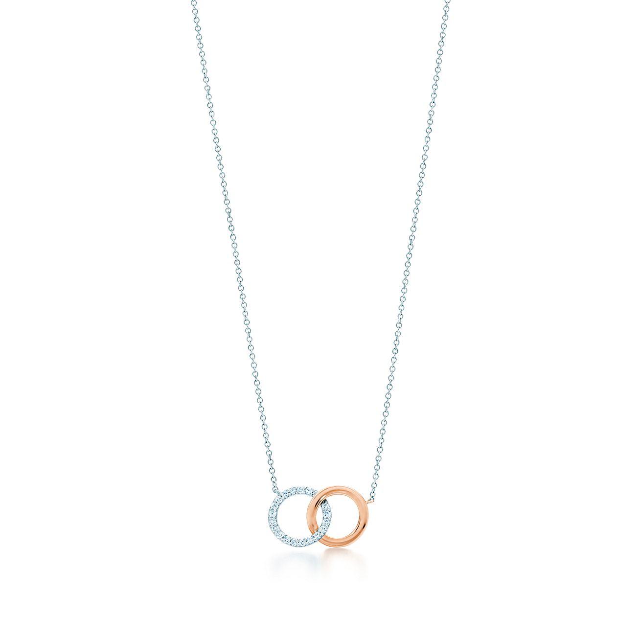 Tiffany 1837 interlocking circles pendant in white and rose gold tiffany 1837double interlocking circles pendant aloadofball Image collections