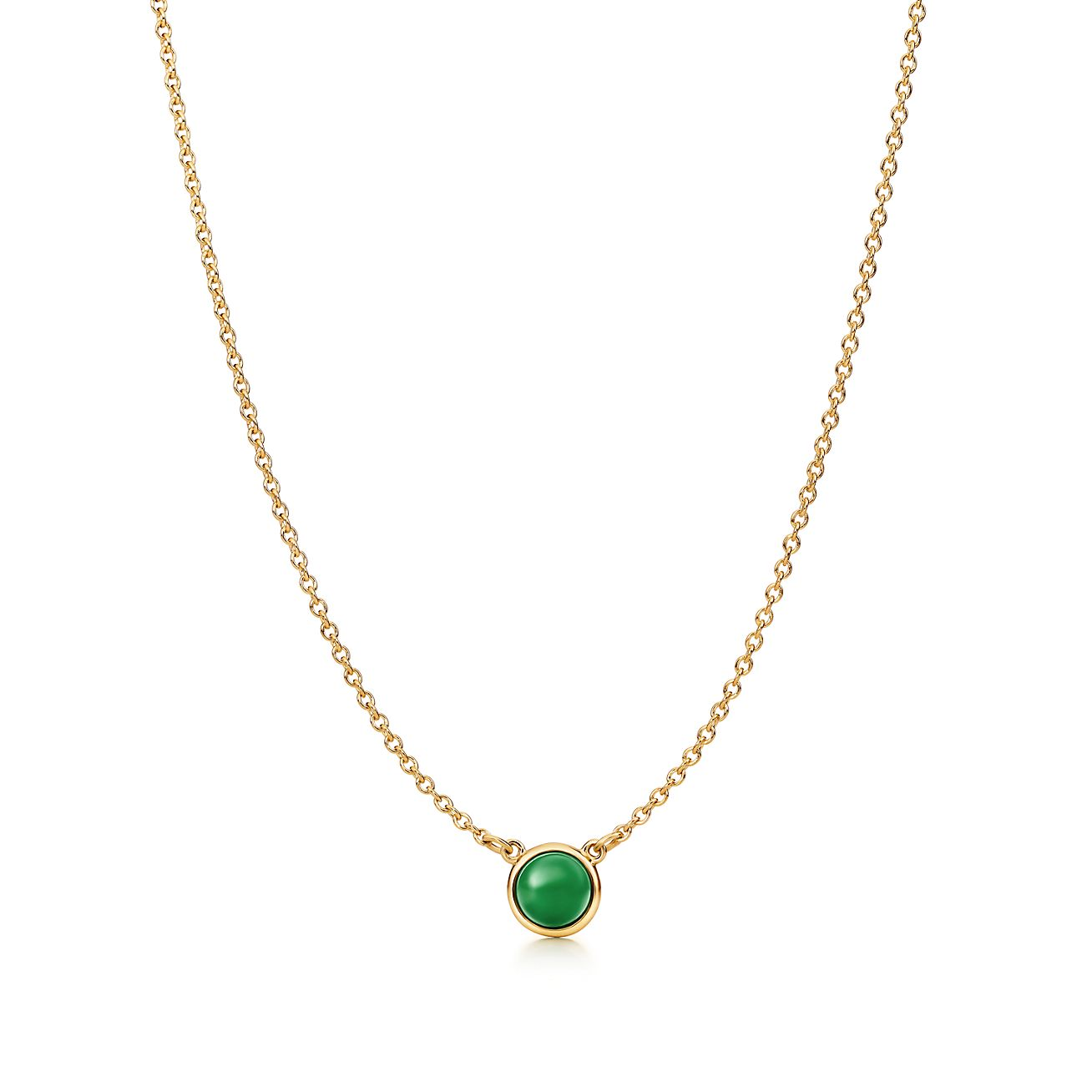 Elsa peretti cabochon pendant in 18k gold with green jade elsa peretticabochon pendant aloadofball Choice Image