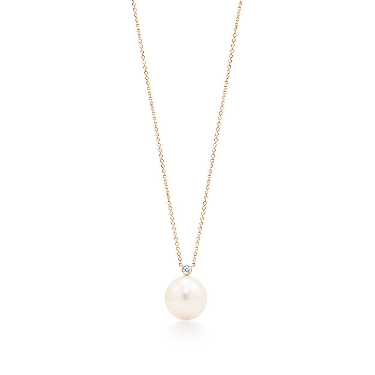 Pendant in 18k rose gold with south sea cultured pearls and tiffany south sea noblepearl pendant aloadofball Image collections