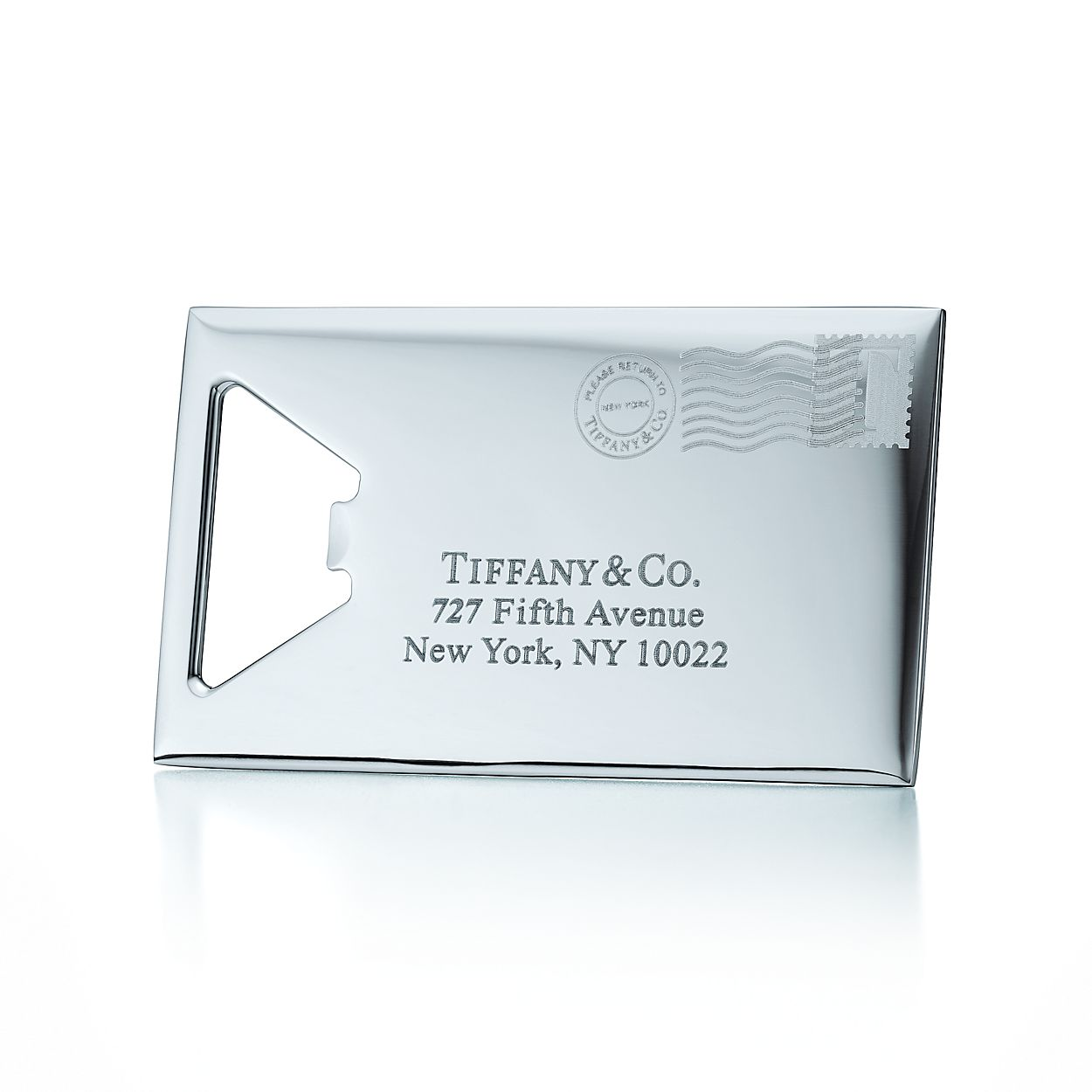 T&CO. envelope bottle opener in stainless steel. | Tiffany & Co.