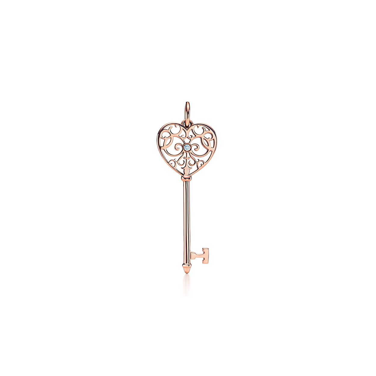 Tiffany keys enchant key pendant in 18k rose gold with diamonds tiffany keysenchant key tiffany keysenchant key aloadofball Gallery