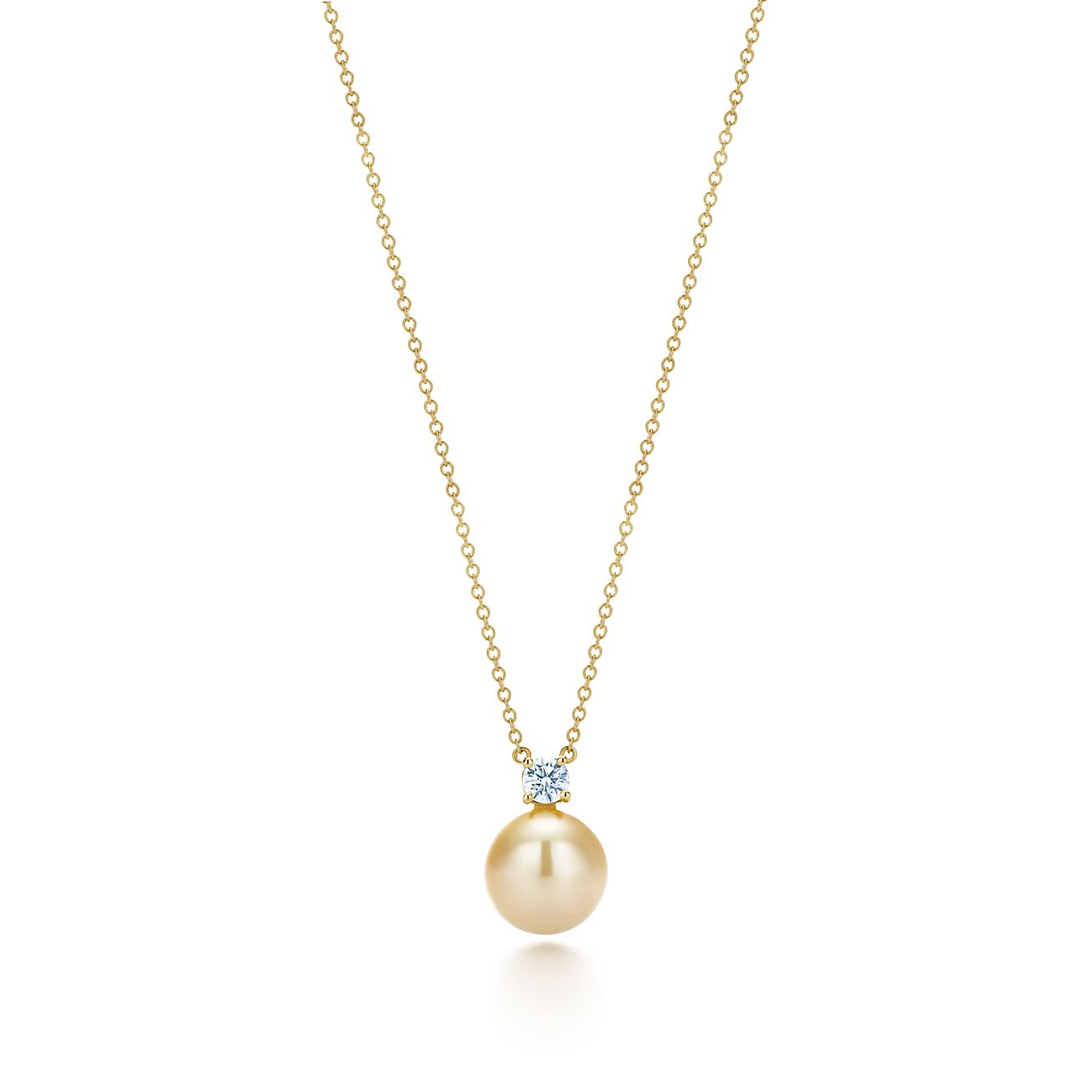 Tiffany south sea pearl pendant in 18k gold with diamonds tiffany south seapearl pendant mozeypictures Choice Image