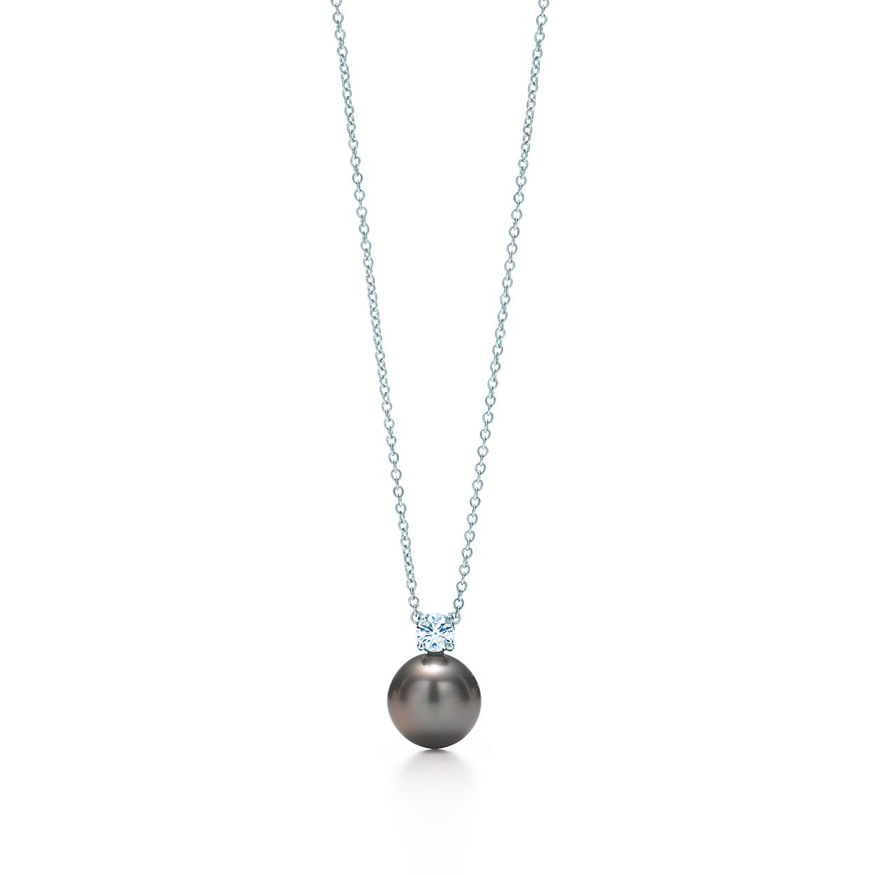 Pendant in 18k white gold with tahitian pearls and diamonds pearl pendant pearl pendant mozeypictures Choice Image