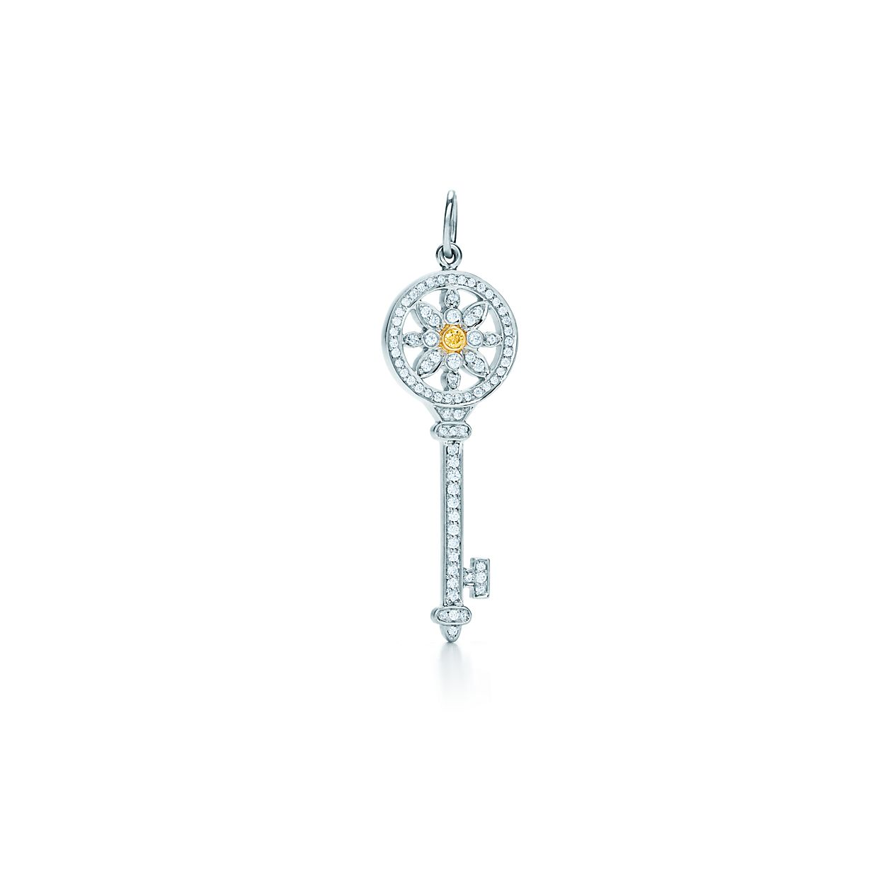 Tiffany keys daisy key pendant in platinum and 18k gold with tiffany keysdaisy key pendant tiffany keysdaisy key pendant aloadofball Gallery