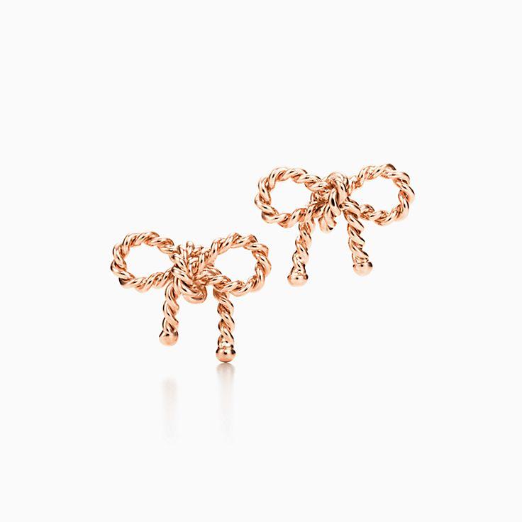 Rose Earrings uk Earrings in 18k Rose Gold
