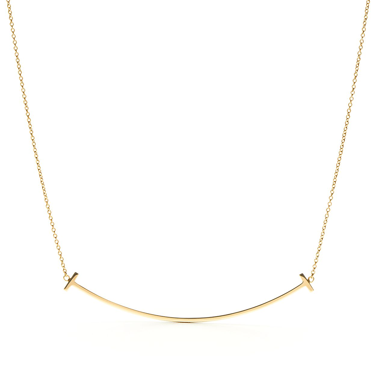 18k gold smile pendant necklace tiffany co tiffany tsmile pendant tiffany tsmile pendant mozeypictures