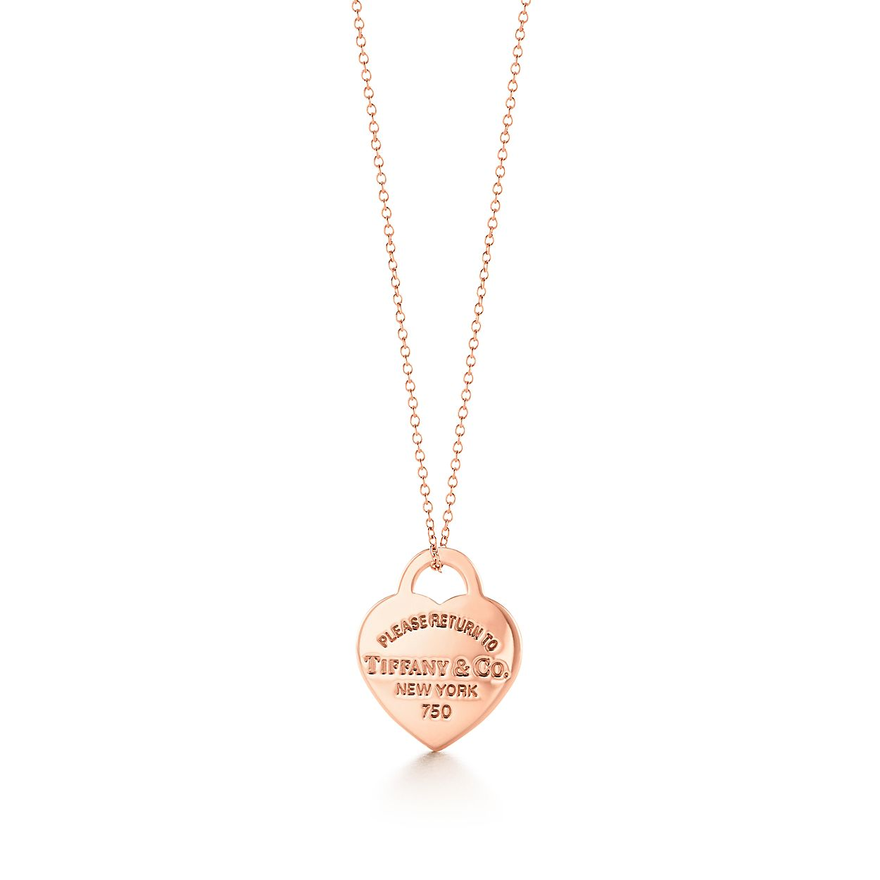 Return to Tiffany® heart tag pendant in 18k rose gold, small ...