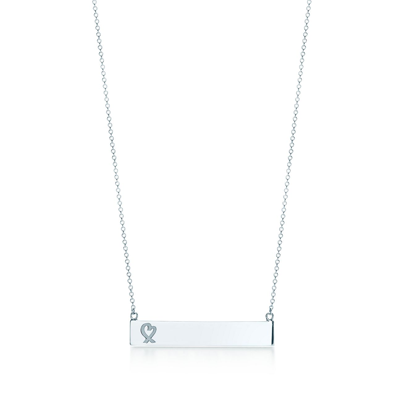 Paloma picasso loving heart bar pendant in sterling silver paloma picassoloving heart bar pendant mozeypictures Images