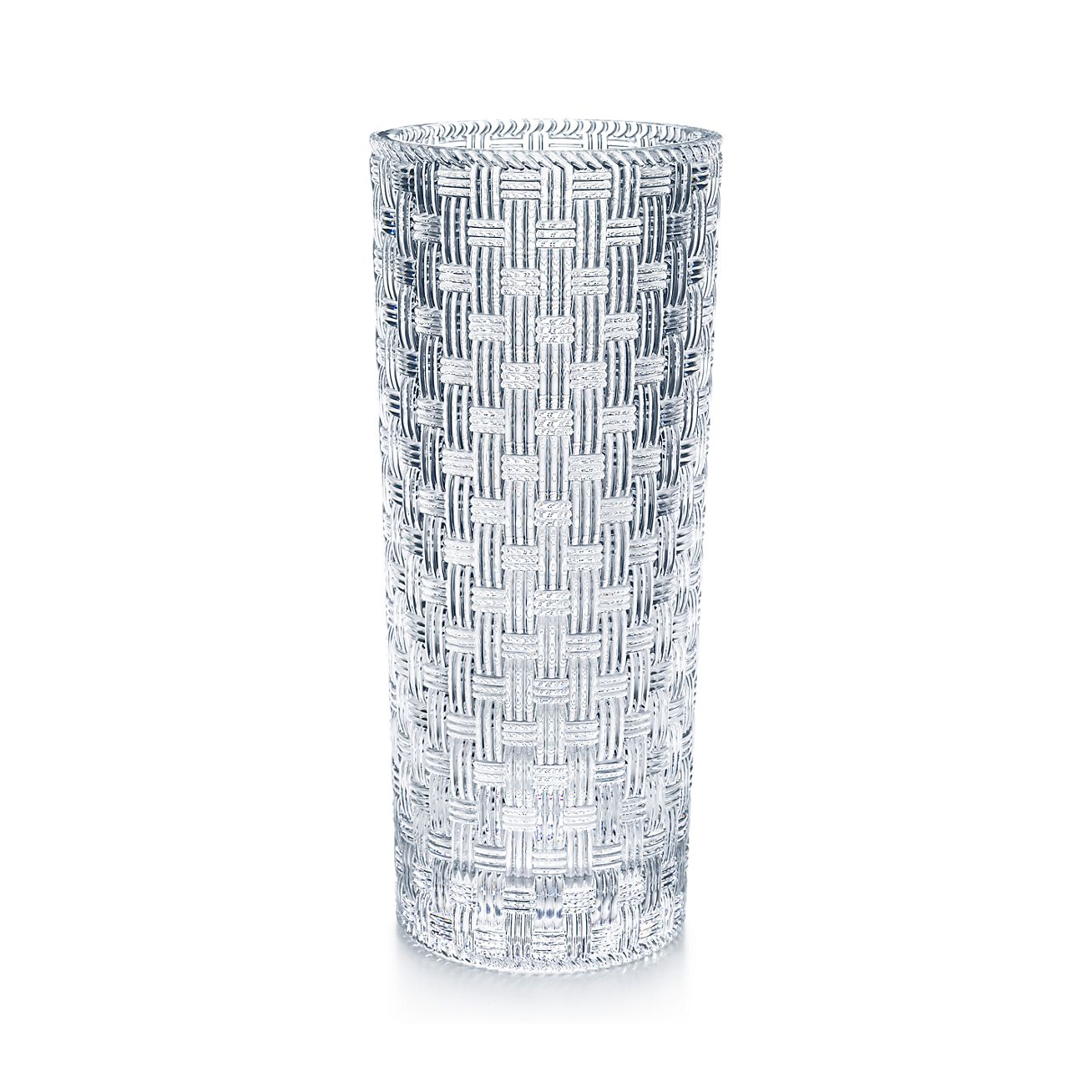 Woven cylinder vase in crystal tiffany co wovencylinder vase reviewsmspy
