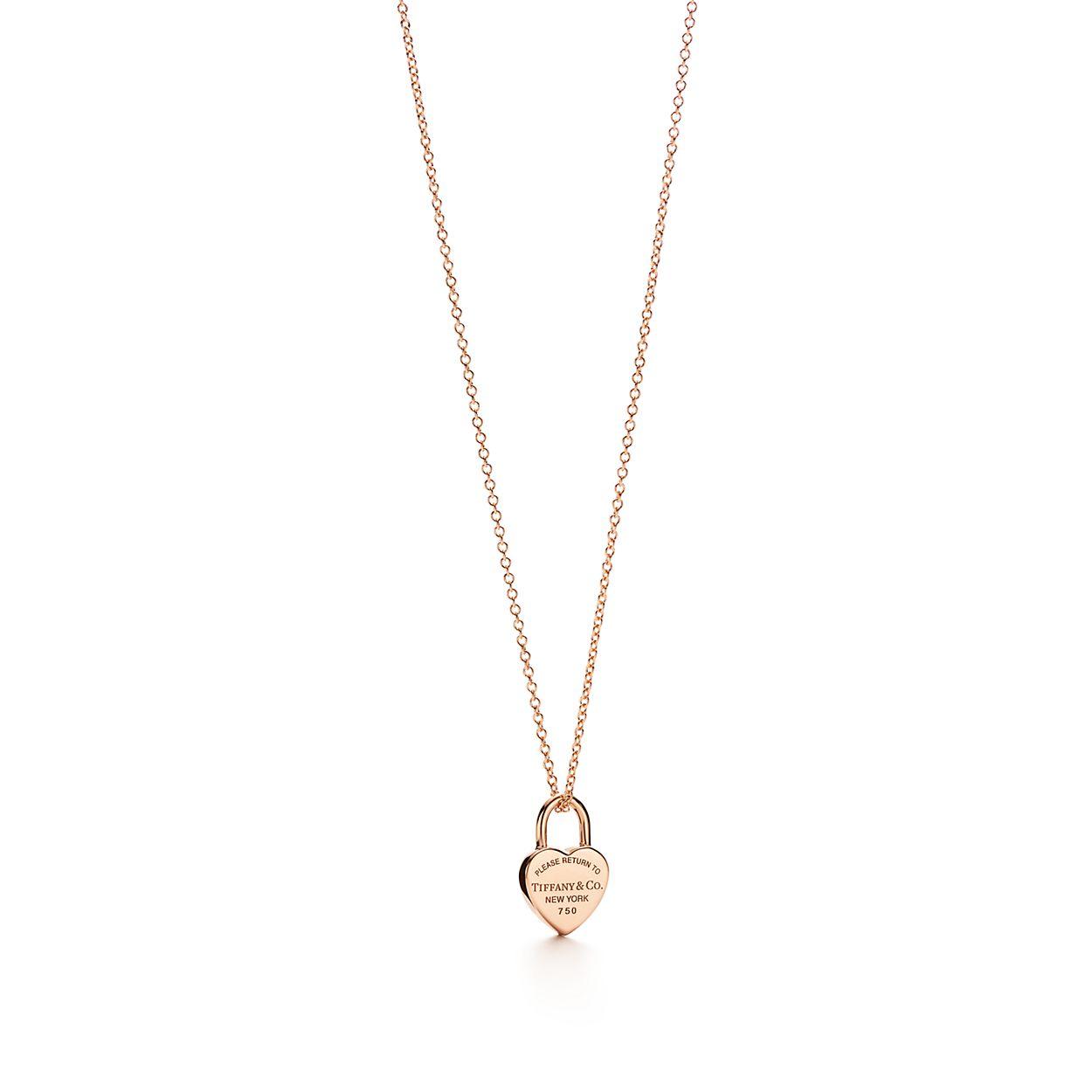 Return to tiffany heart tag lock pendant in 18k rose gold return to tiffanyheart tag lock pendant aloadofball Gallery