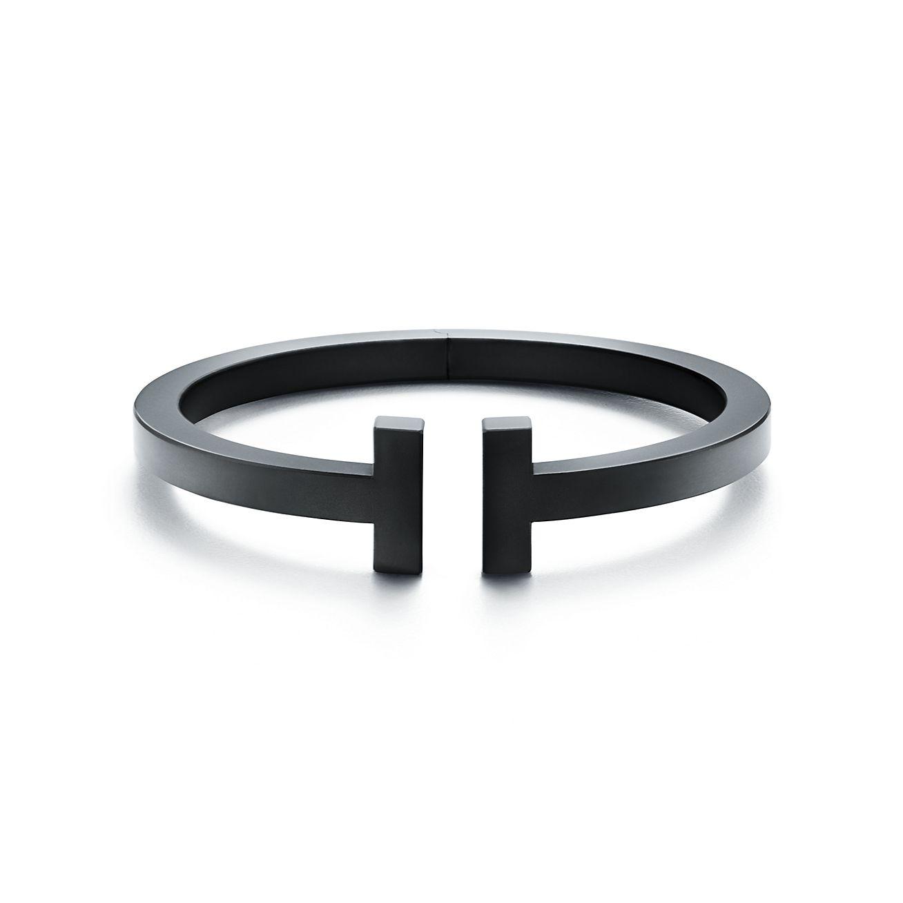 Tiffany T square bracelet in black-coated steel, medium. | Tiffany ...