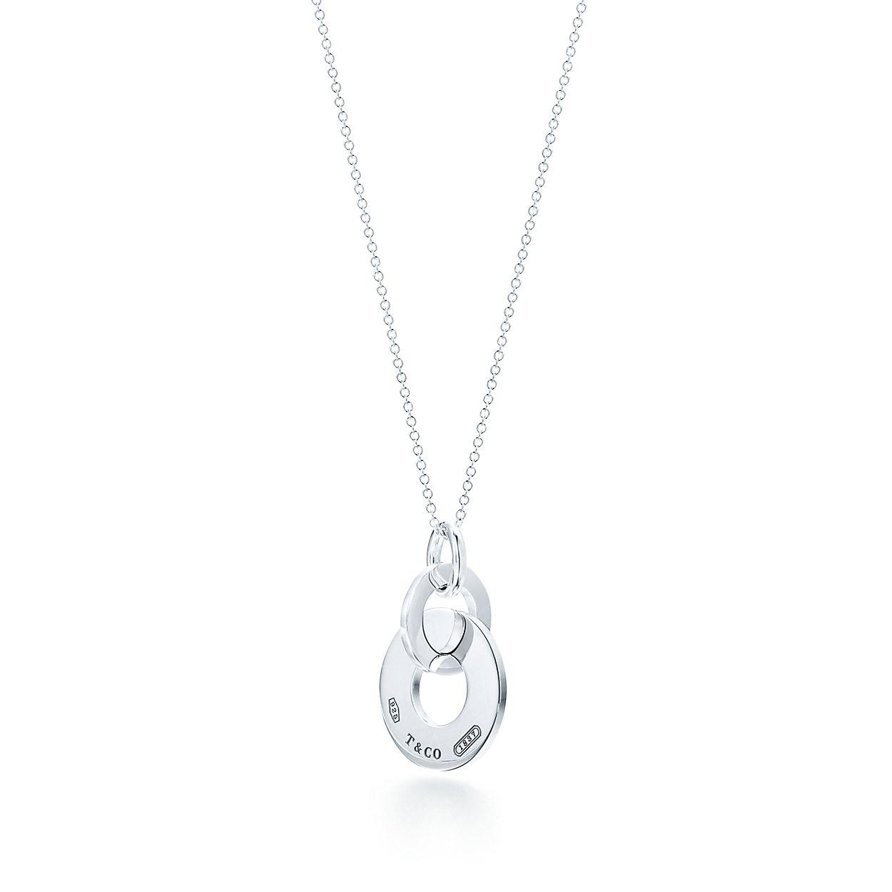 Tiffany 1837 interlocking drop pendant in sterling silver small tiffany 1837double interlocking drop pendant audiocablefo