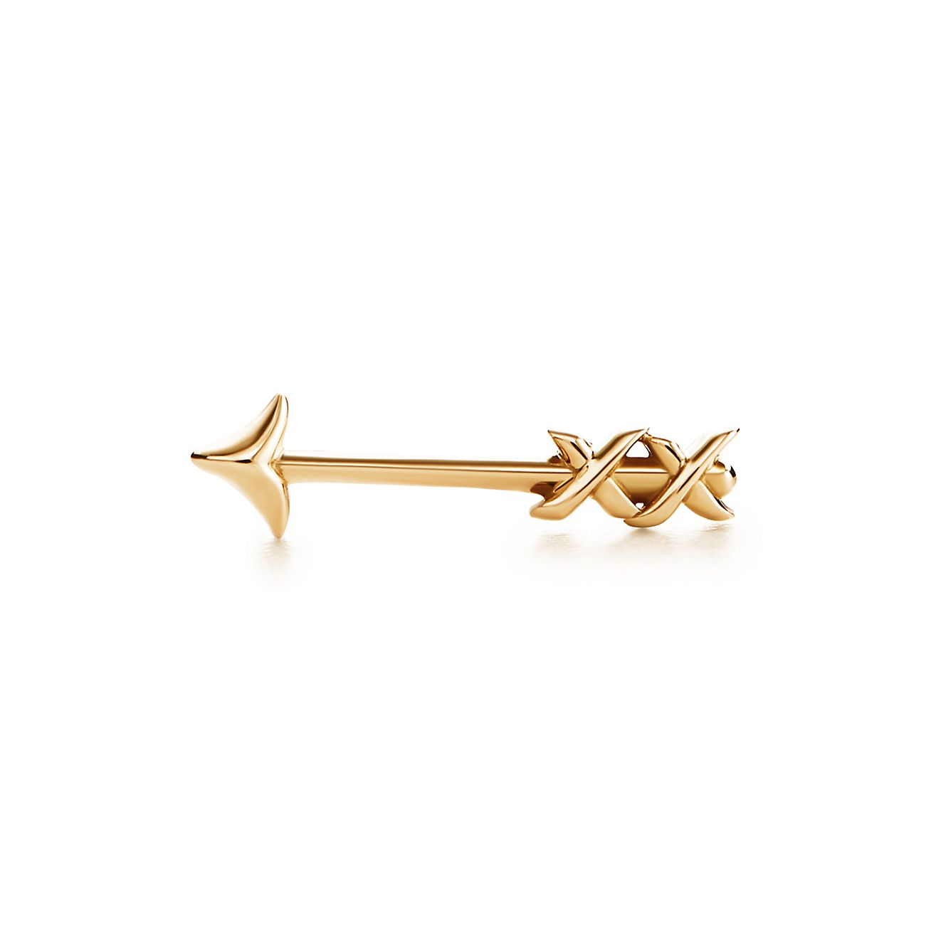 Paloma\'s Graffiti arrow single earring in 18k gold. | Tiffany & Co.
