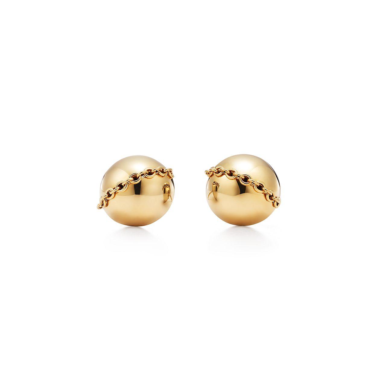 Tiffany HardWear bolt stud earrings in 18k gold. | Tiffany & Co.