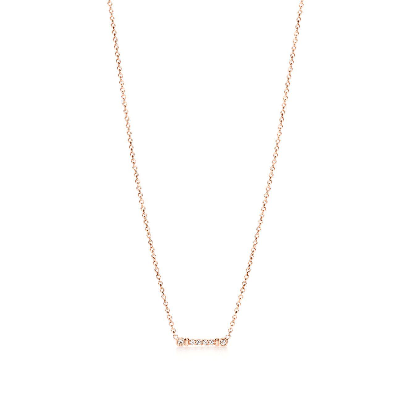 Tiffany fleur de lis key stem pendant in 18k rose gold with tiffany fleur de liskey stem pendant mozeypictures Image collections