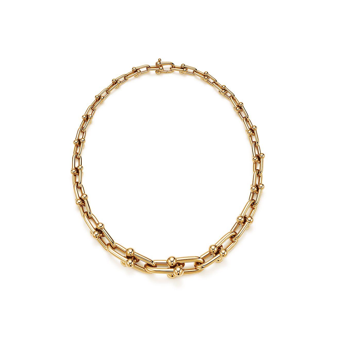 Tiffany HardWear graduated link necklace in 18k gold. | Tiffany & Co.