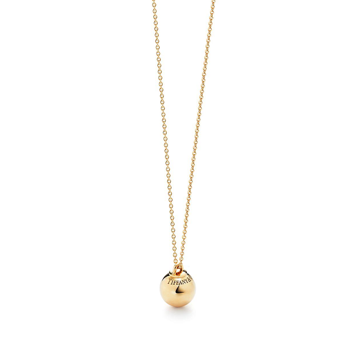 Shop Tiffany HardWear 18K Gold Ball Pendant | Tiffany & Co.