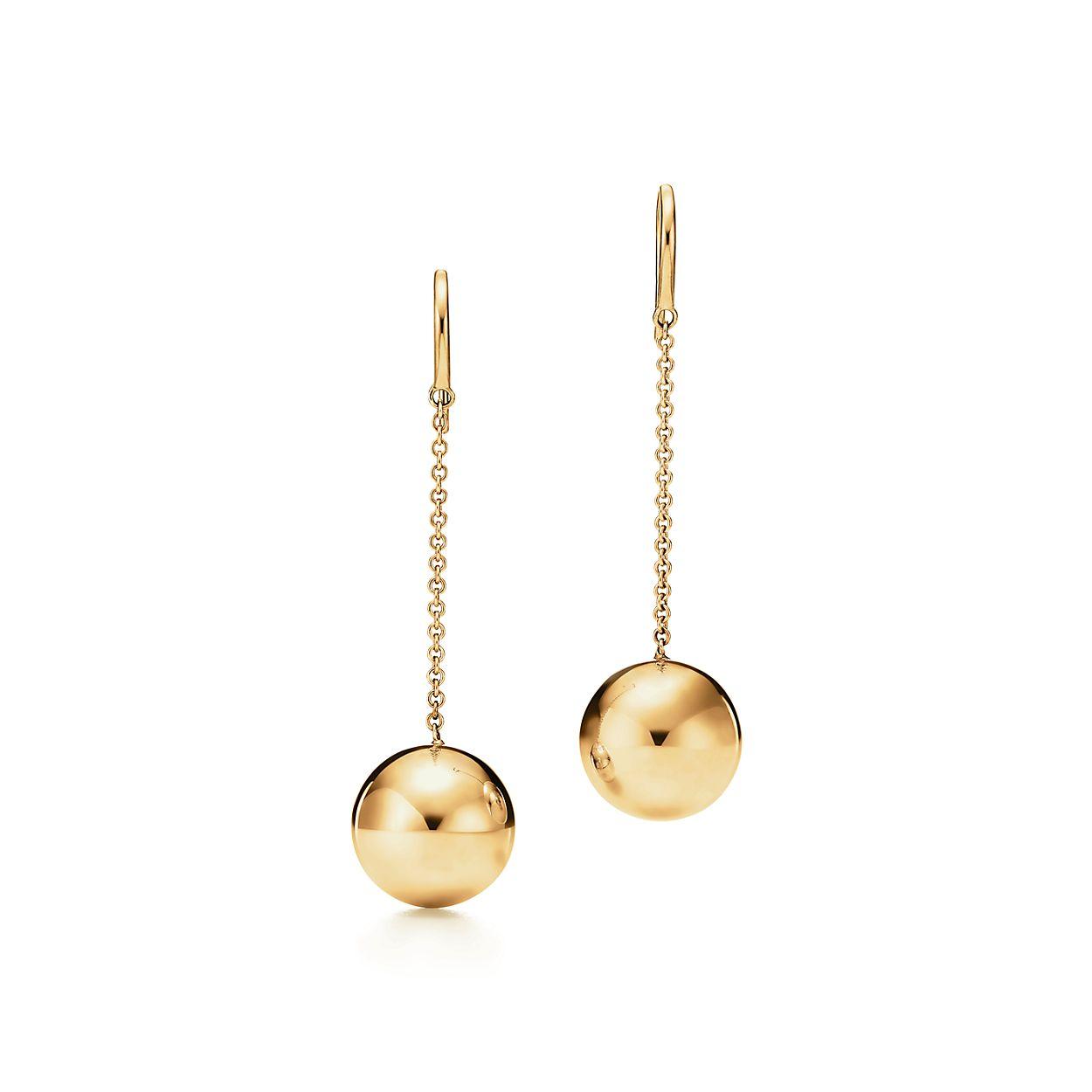 Tiffany HardWear ball hook earrings in 18k gold. | Tiffany & Co.