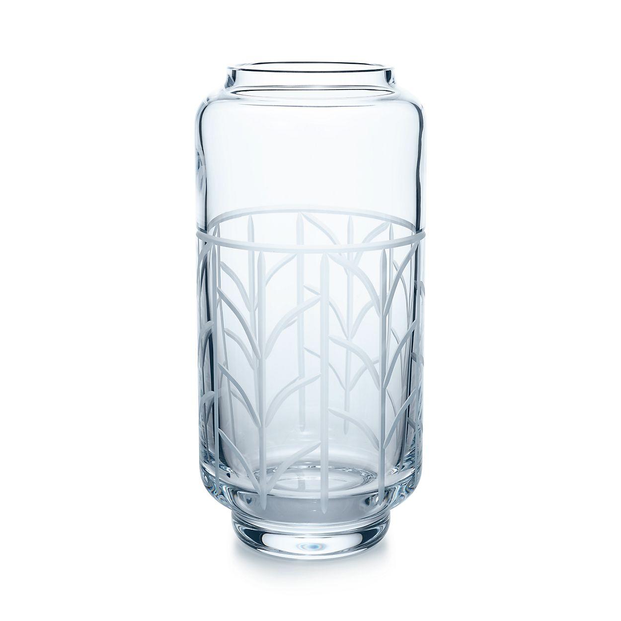 Wheat leaf baluster vase in crystal glass large tiffany co wheat leafbaluster vase wheat leafbaluster vase reviewsmspy