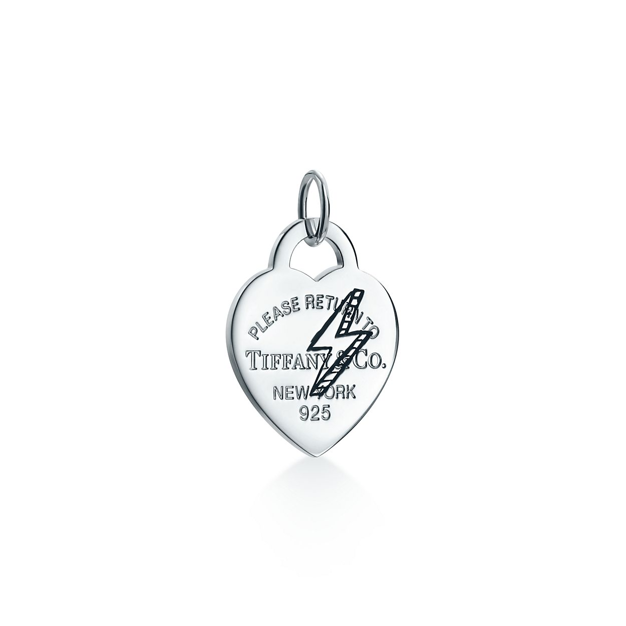 Return to tiffany etched lightning bolt heart tag charm in return to tiffanyetched lightning bolt heartbrtag charm mozeypictures Choice Image