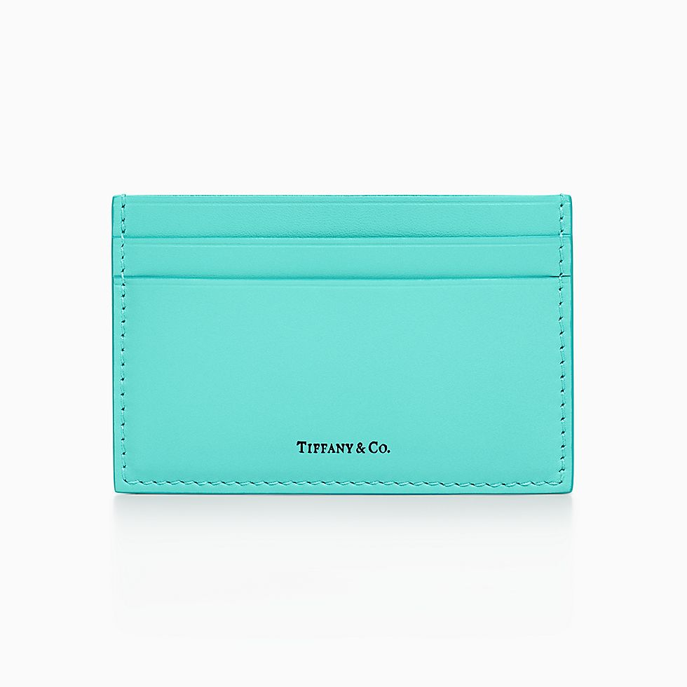 drop a hint for card case in tiffany blue smooth calfskin leather shop now for card case in tiffany blue smooth calfskin leather - Tiffany And Co Color Code