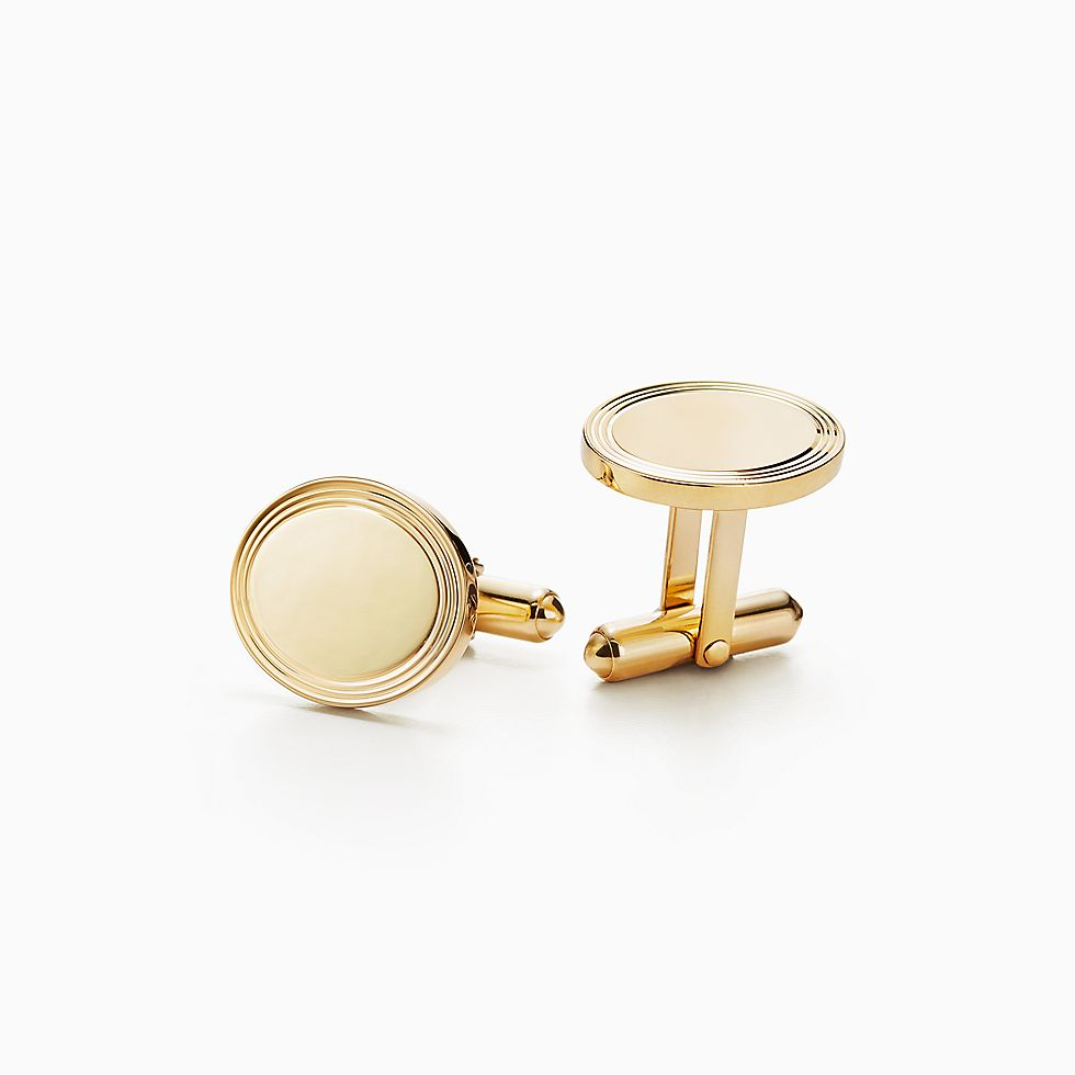 New Engine Turned Oval Cuff Links In 18k Gold Tiffany Engagement Rings  Sapphire · Tiffany