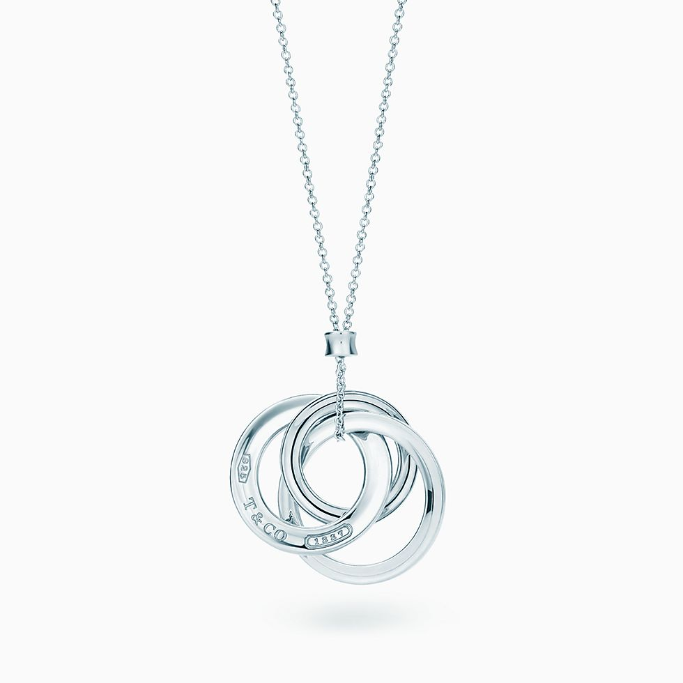 New Tiffany 1837™ Interlocking Circles Pendant In Sterling Silver, Small