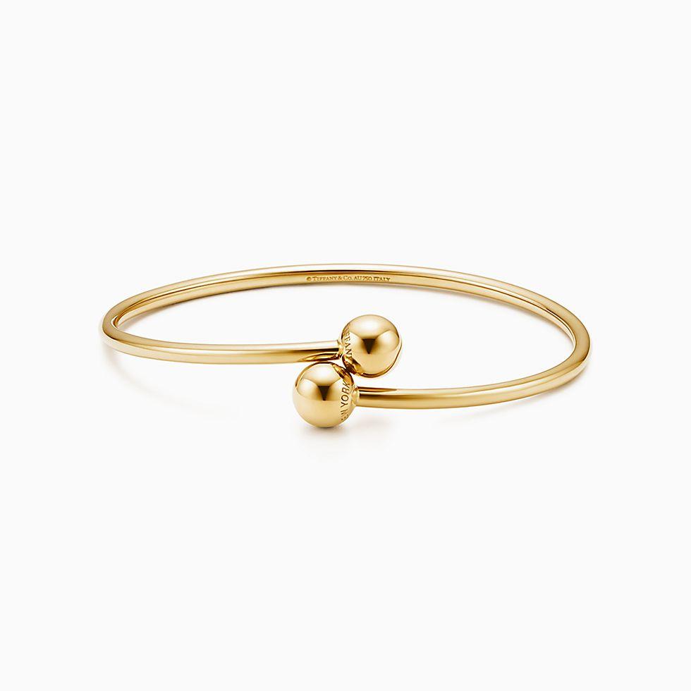 New Tiffany City Hardwear Ball Bypass Bracelet In 18k Gold, Medium