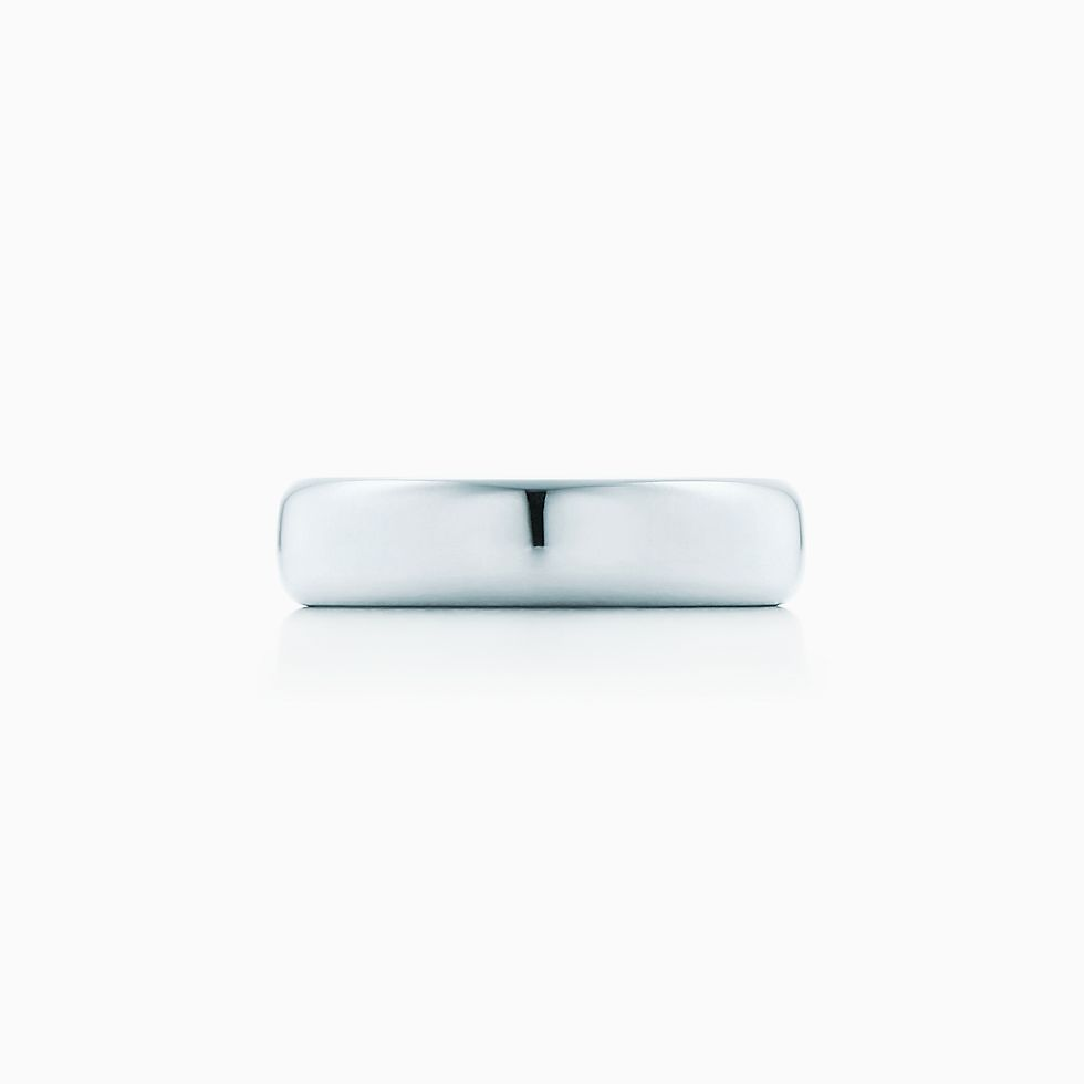New Tiffany Classic™ wedding band ring in platinum, 4.5 mm wide.
